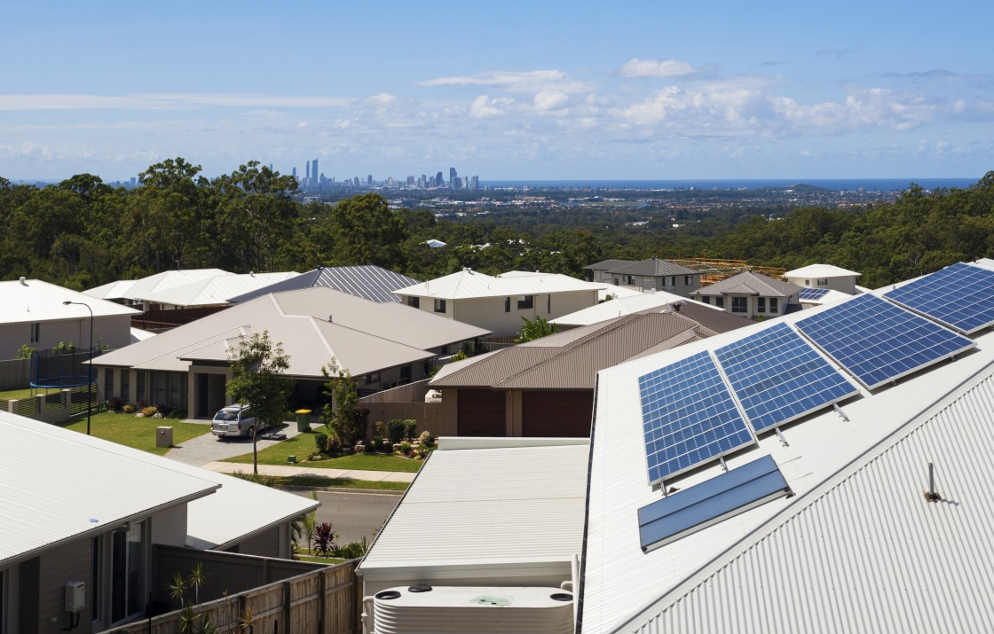 Solar panel panels on contract that are on an Australian home.